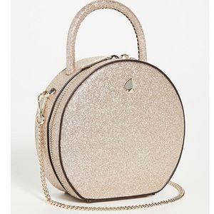 NWOT Kate Spade Andi Glitter Mini Canteen Bag Gold